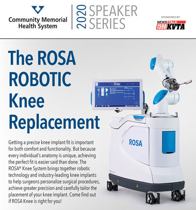 Rosa Robotic Knee Replacement Surgery graphic